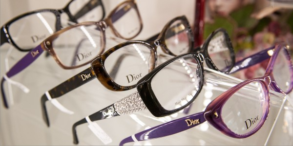 Dior eyeglasses and sunglasses